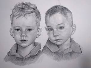 Retrato de hermanos